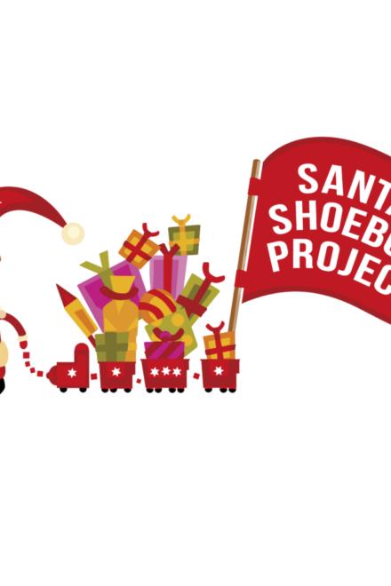 Santa Prepares for Shoebox Drop off at Gateway